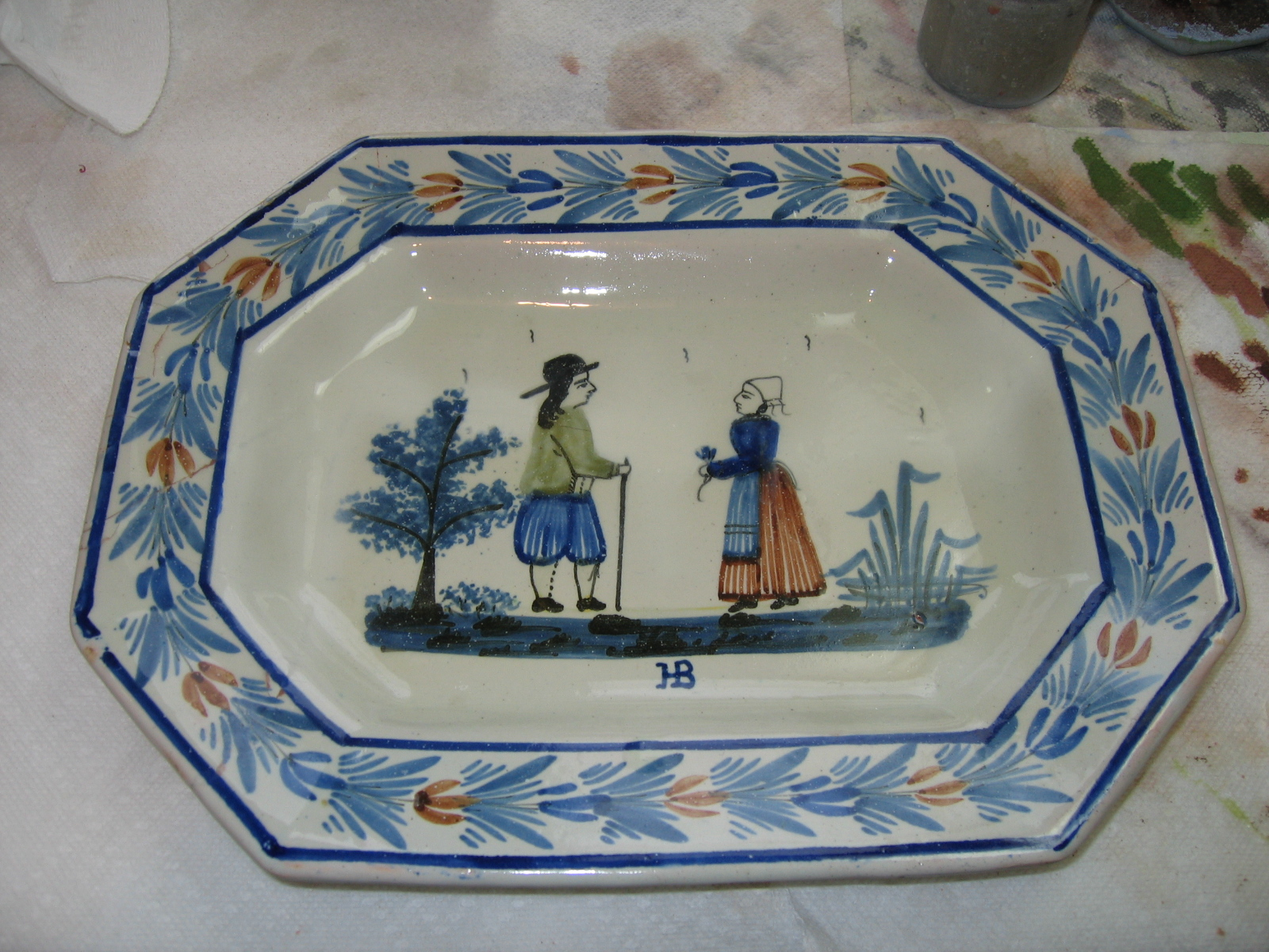 Restored Faience Plate